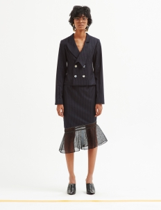 Deconstructed Pinstripe Skirt
