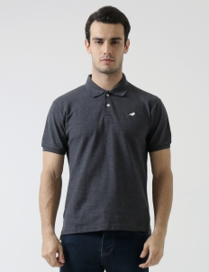 Dark Gray Original Finch Basic Polo