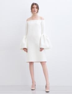 White Plumeria Albino Dress