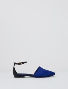 Blue Carmilla Flats