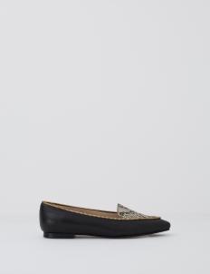 Natural Debora Zip Flat Shoes