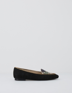 Black Debora Zip Flat Shoes