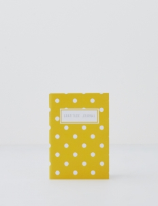 Mustard Dots Gratitude Journal