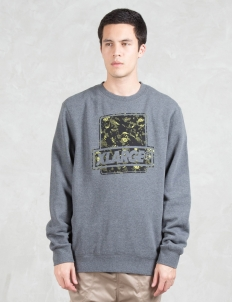 Camo Fill Crewneck Fleece Sweatshirt