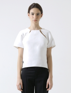 White Leyca Top