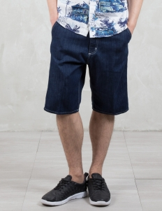 Rinsed 11oz Denim Ruck Single Knee Shorts