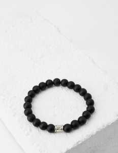 Prestige Black Onyx Matte with Silver Chique Head Bracelet