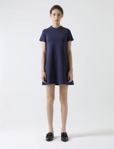 Navy Round-Neck Mini Dress