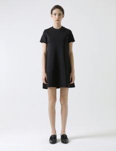 Black Round-Neck Mini Dress
