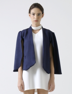 Navy Cape Jacket
