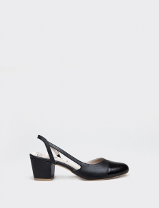 Black Tiffany Mid-Heels