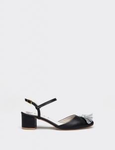 Black Charlotte Mid-Heels