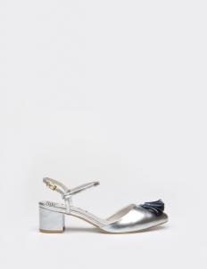 Silver Charlotte Mid-Heels