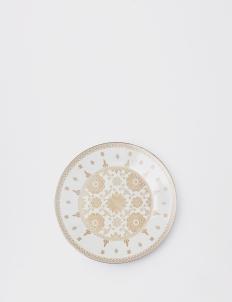 Modern Round Platter Songket Palembang Cream