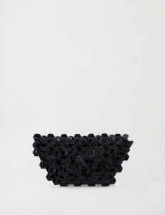 Black Machina Clutch Medium