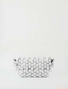 Storm White Machina Clutch Large