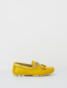Yellow Aaron Boat Shoes