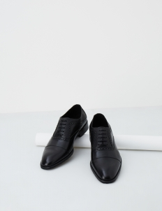 Black Chalmers Oxford Shoes