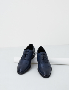 Navy Chalmers Oxford Shoes