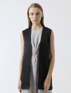 Black Side Pockets Vest