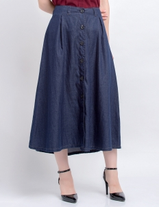 Soft Denim Midi Skirt