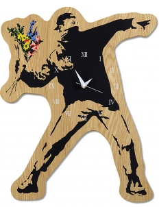 "Sync.-Brandalism  x Karimoku ""Flower Bomber"" Wall Clock"