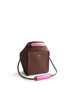Brown Pink 2Loev Mini Bag