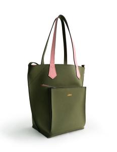 Olive Pink 2Loev Midi Bag