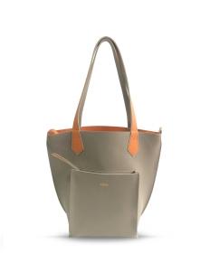 Taupe Orange 2Loev Midi Bag