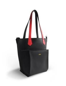 Black Red 2Loev Midi Bag