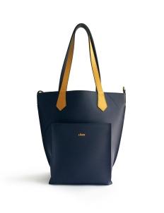 Navy Yellow 2Loev Midi Bag