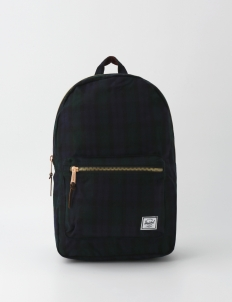 Settlement Black Plaid Backpack