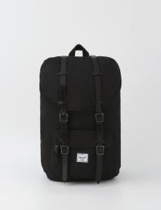 Little America Canvas Black Backpack