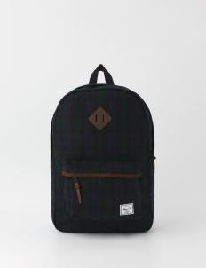 Heritage Black Plaid Backpack