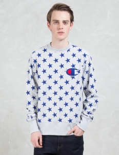 Overall Stars Sweatshirt with Applique Logo