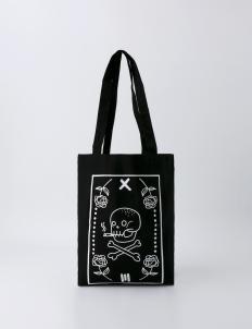 Black Smoke Skull Tote Bag