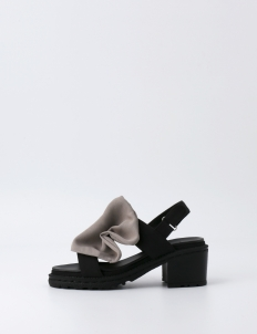 Gray Double Strap Ruffle Shoes