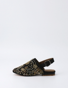 Gold Labadiu Slip On Shoes