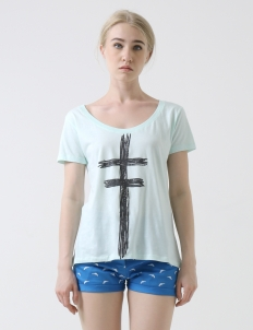Light Blue Forever In Space Myuna Tee