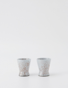 Off White Dotted Brown Espresso cup (Set of 2)