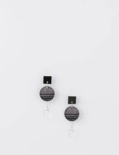 Glitch Circle Earrings