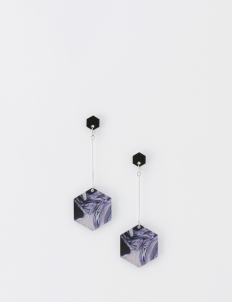 Glitch Hexagon Earrings
