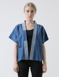 Blue Warangka Women Kimono