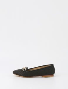 Black Melissa Python Belt Shoes