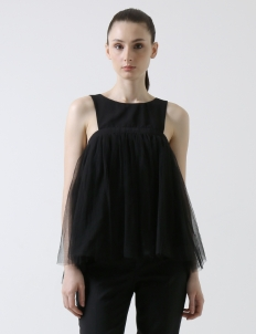 Black Cadence Tulle Top