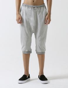 Gray Rat Jogger Short Pants