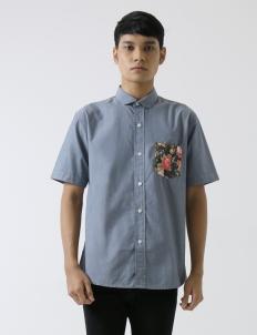 Denim Fleur Poche Shirt