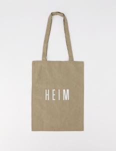 Brown Mini Linen Tote Bag