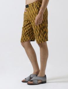 Brown & Yellow Davis Shorts