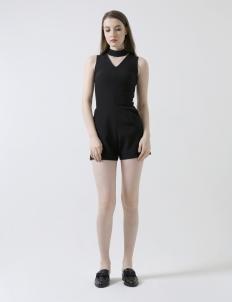 Detachable Choker Jumpsuit in Black